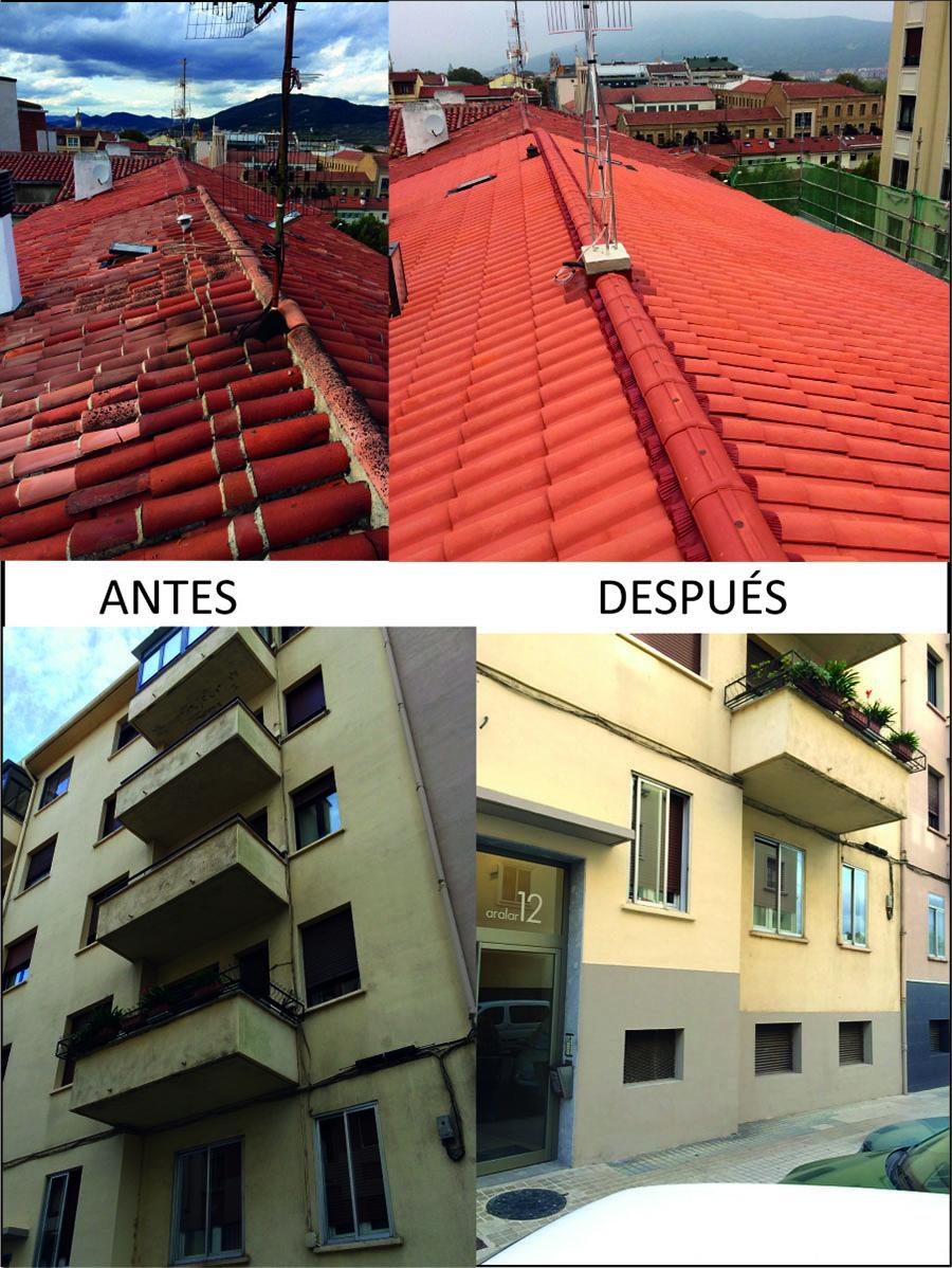 Reforma de cubierta y fachada en C/ Aralar 12 de Pamplona